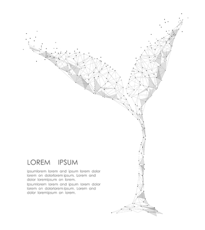 Illustration pour Abstract mash line and point sprout on background - image libre de droit