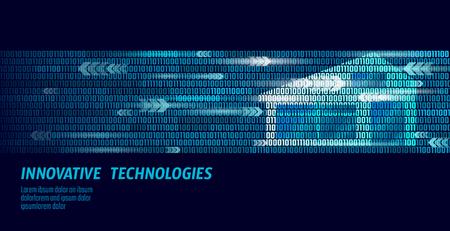 Smart house binary code flow concept  Online control
