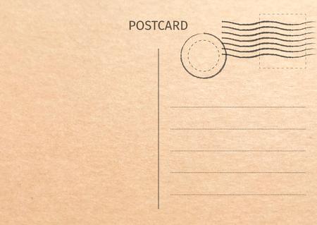 Illustration pour Postcard. Postal card illustration for your design. Travel card design. Vintage Postcard. Old paper texture. Vector illustration. - image libre de droit