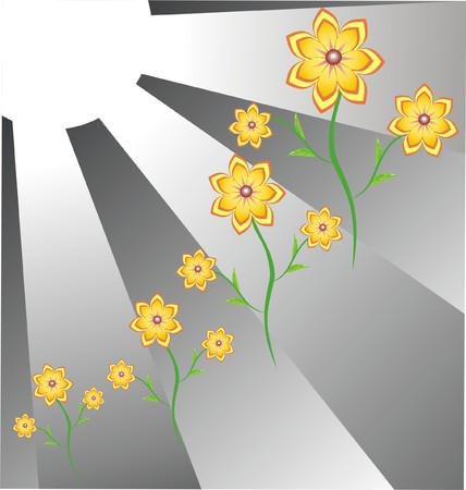 The Flowerses and sun.