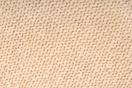 It is a close up of knitted fabric
