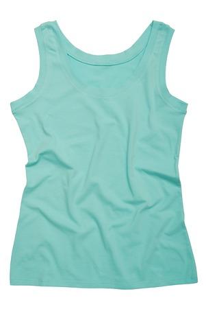 Photo pour A turquoise sports shirt is on white  - image libre de droit
