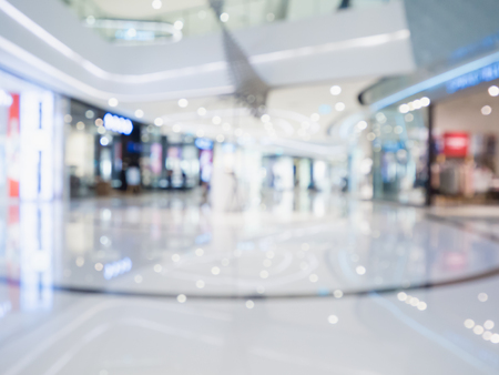 blur of  department store with bokeh for background