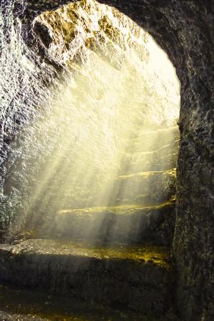 Foto de empty tomb on Easter Sunday 899 - Imagen libre de derechos