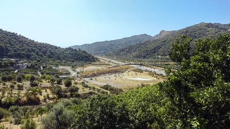 Fiumara d'Agrò in dry