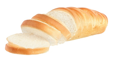 Bread on a white background.