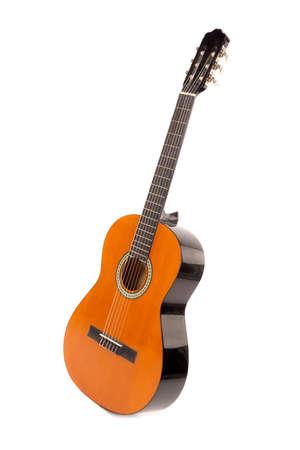 Photo pour Acoustic guitar isolated in a white background - image libre de droit