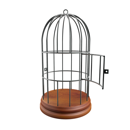 Photo for empty cage with the door open - Royalty Free Image