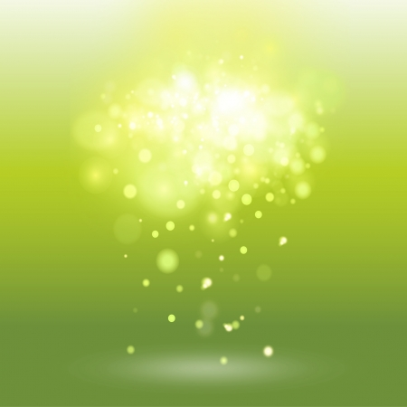 Green background with unfocused brightness. Vector design.