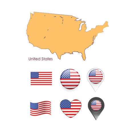 Set of america elements  Vector design