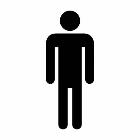 Ilustración de Illustration of Men icon on white background - Imagen libre de derechos