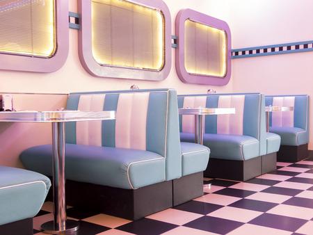 Pink illuminated 50s style burger