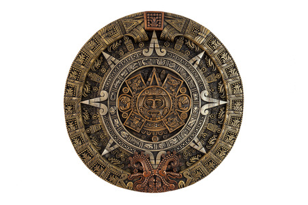 Photo for Isolated ancient Aztec calendar - Royalty Free Image
