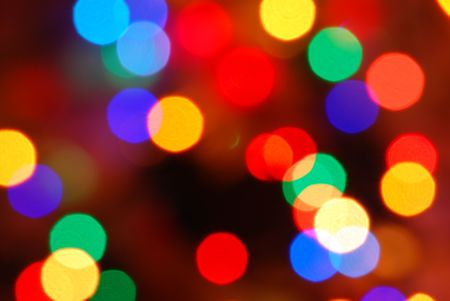 glowing Christmas lights (blur abstract color background)