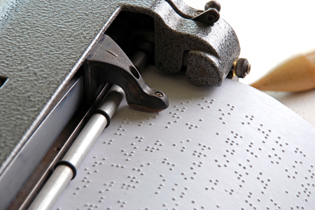 Photo for Braille machine writing - Royalty Free Image