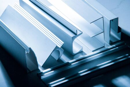 Photo for Aluminum profile for window, door, bathroom box - Royalty Free Image