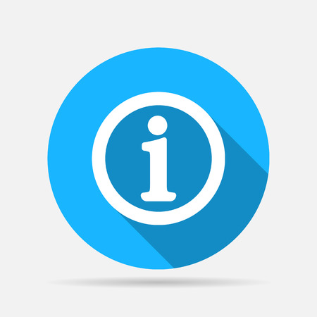 Illustration for Information sign icon - Royalty Free Image