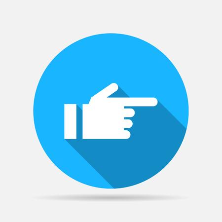 Illustration pour hand pointing finger icon - image libre de droit