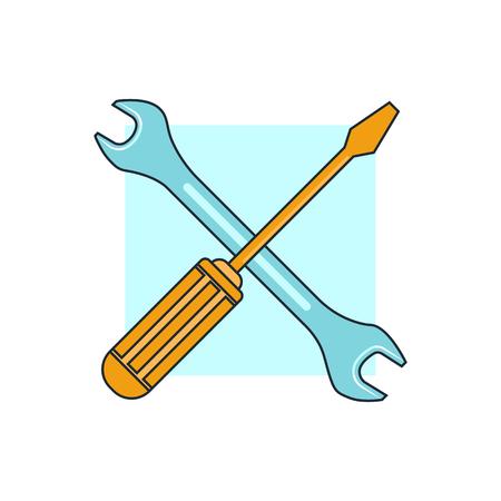 Illustration pour tools icon - image libre de droit