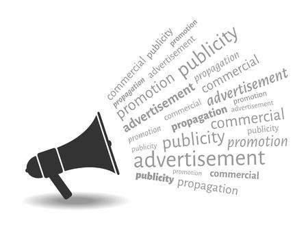 Vector megaphone representing advertisement concept