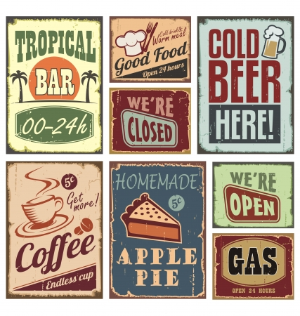 Photo for Vintage style signs - Royalty Free Image