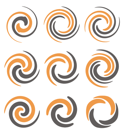 Illustration pour Swirl and spiral logo design elements - image libre de droit