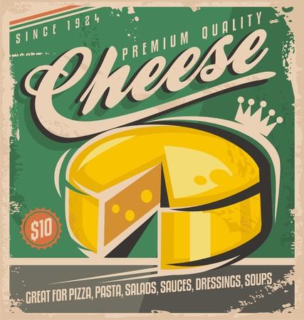Foto de Cheese vintage poster design template - Imagen libre de derechos
