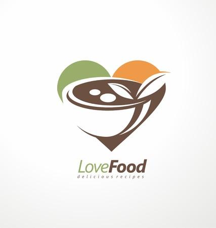 Vektor für Food and restaurant symbol design idea. - Lizenzfreies Bild
