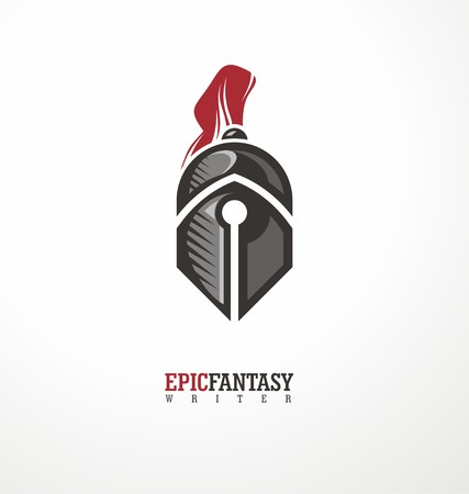 Creative symbol concept with knight and pen