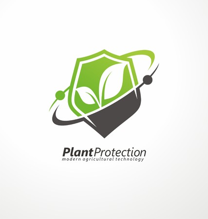 Modern agricultural technology symbol template