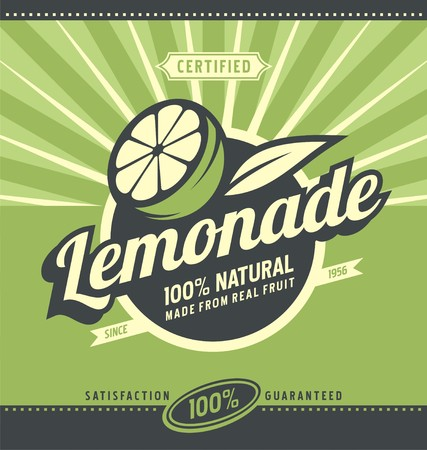 Photo pour Lemon slice and lemonade - image libre de droit