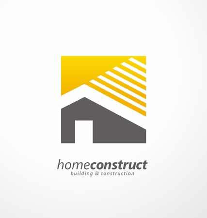 Photo for Home construction vector logo design - Royalty Free Image