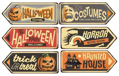 Photo pour Halloween signs collection - image libre de droit