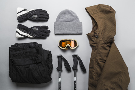 Foto de Winter sports gear selection - Imagen libre de derechos