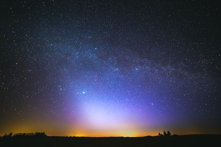 Photo for zodiacal light and the Milky Way on a beautiful night - Royalty Free Image