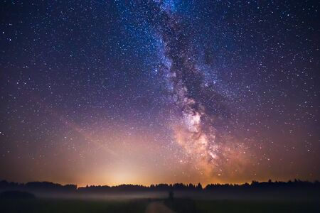 Photo for Landscape with Milky way galaxy in Lithuania - Royalty Free Image