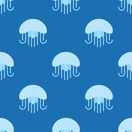 Illustration pour Jellyfish seamless pattern for use as wrapping paper gift or wallpaper and printing, summer theme. - image libre de droit