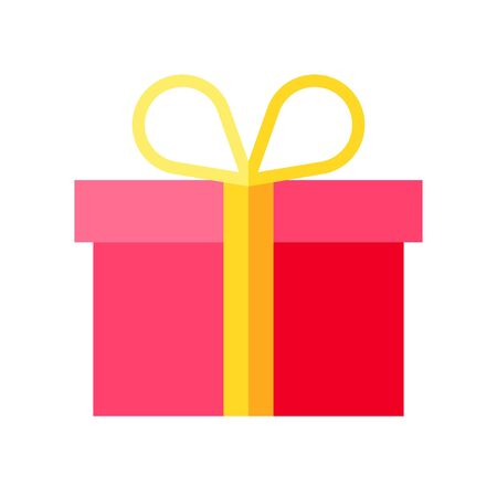 Illustration pour Gift box vector illustration, flat style icon - image libre de droit