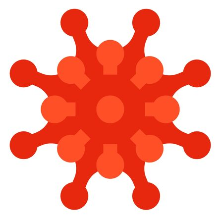 Virus or Bacteria vector illustration, flat design icon