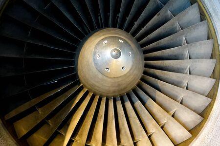 Photo pour Turbine aircraft engine with a nickel alloy. - image libre de droit