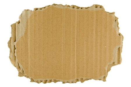 brown torn cardboard  isolated on the white background
