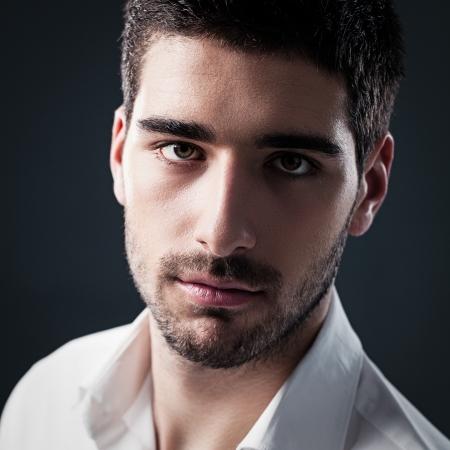 Portrait of a handsome Caucasian man.