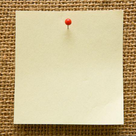 Blank note on a bulletin board