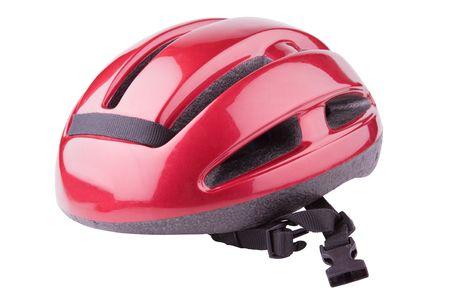 Bicycling helmet isolated on a white background