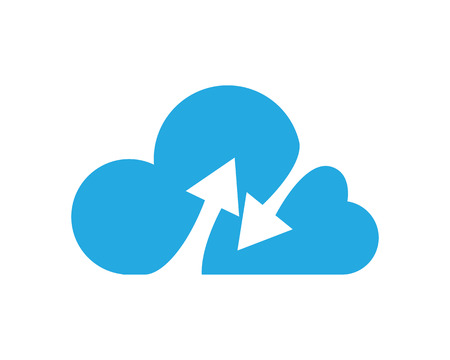 Cloud Logo Template: Royalty-free vector graphics