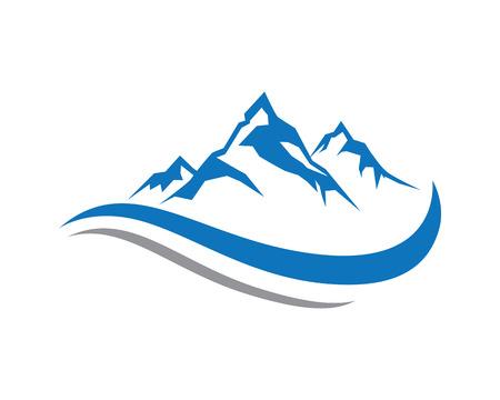 Illustration pour Mountain Logo Business Template Vector - image libre de droit