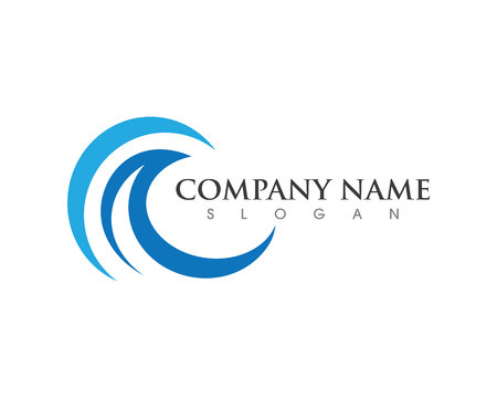 Ilustración de Water wave Logo Template - Imagen libre de derechos