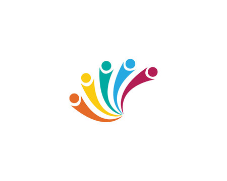 Illustration for community care Logo - Royalty Free Image