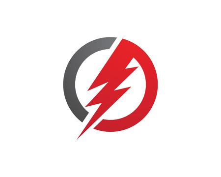 Illustration pour power logo template - image libre de droit