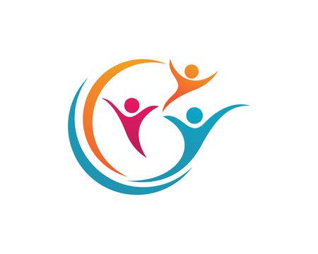 Illustration pour Adoption and community care Logo template vector icon - image libre de droit